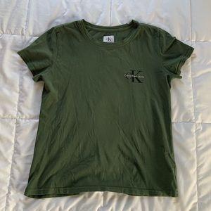Calvin Klein Green Crop Top